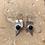Thumbnail: Sterling onyx earrings