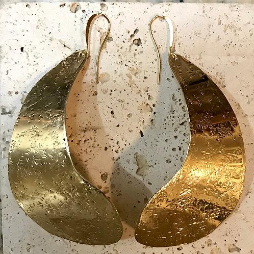 Golden statement earring