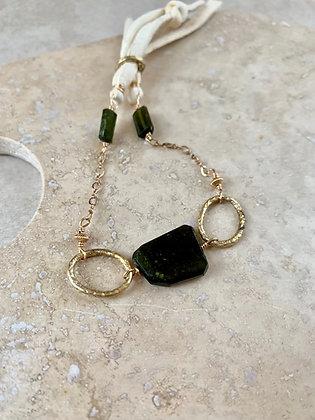 Green Tourmaline Earth and Sky Bracelet