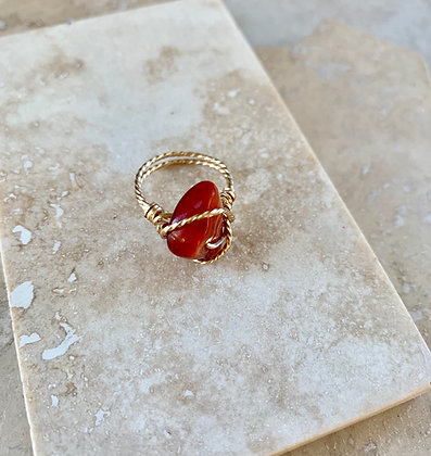 Carnelian Spa Ring