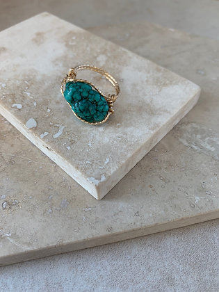 Rough Turquoise Ring