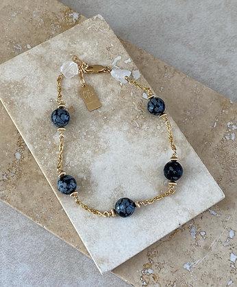 Snowflake Obsidian Aeriella Bracelet