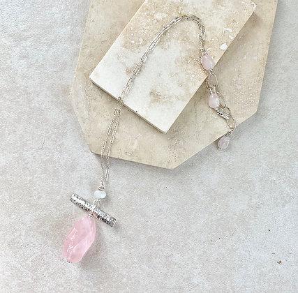 Rose Quartz and Moonstone Pendant