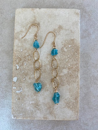 Blue Apatite Drop Earrings