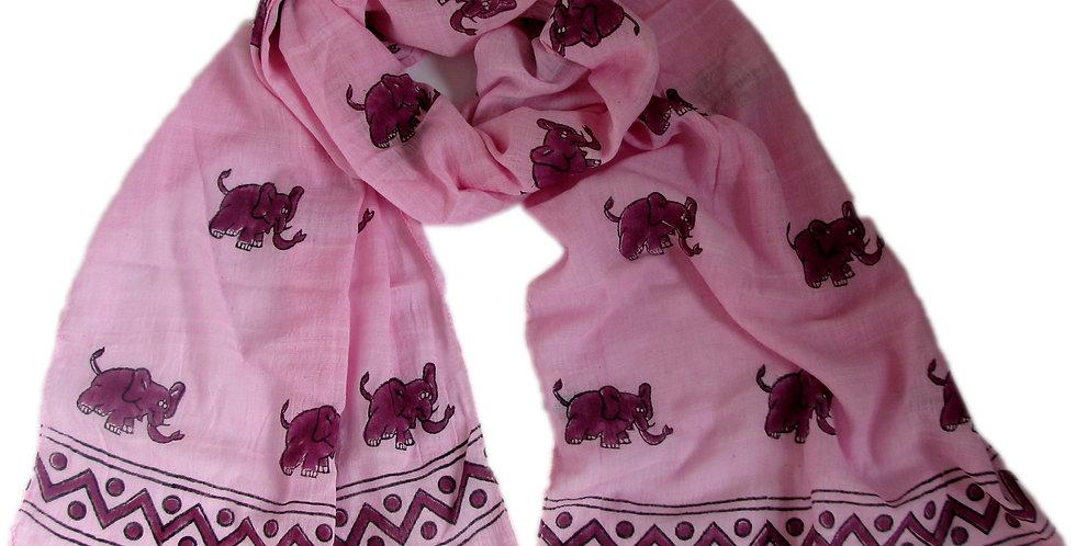 Elephant Scarf Pink