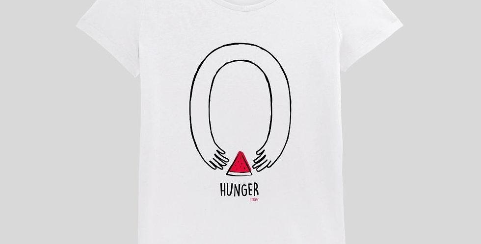 "Camiseta Blanco Mujer ""Zero Hunger"""