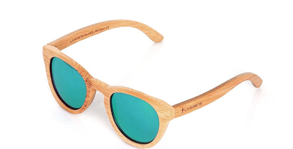Livegens Green Tropic Gafas de Sol de Bambu