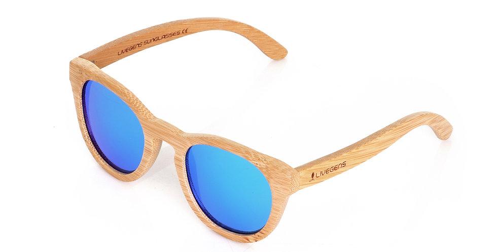 Livegens Blue Tropic Gafas de Sol de Bambu