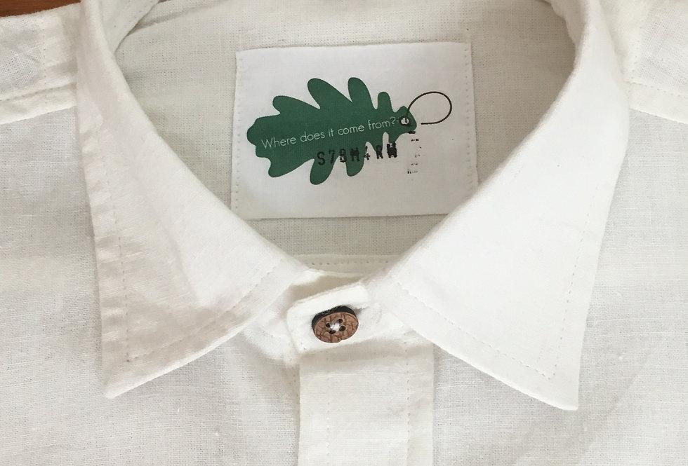 Organic Short-Sleeved White Shirt