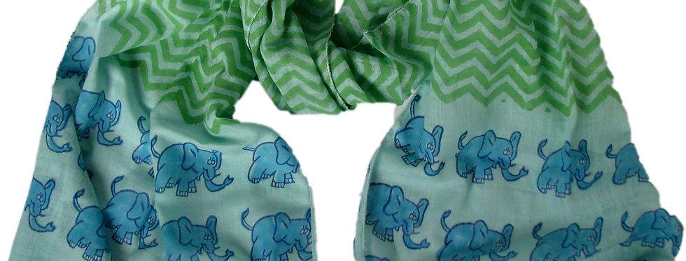 Bufanda Elefante Azul