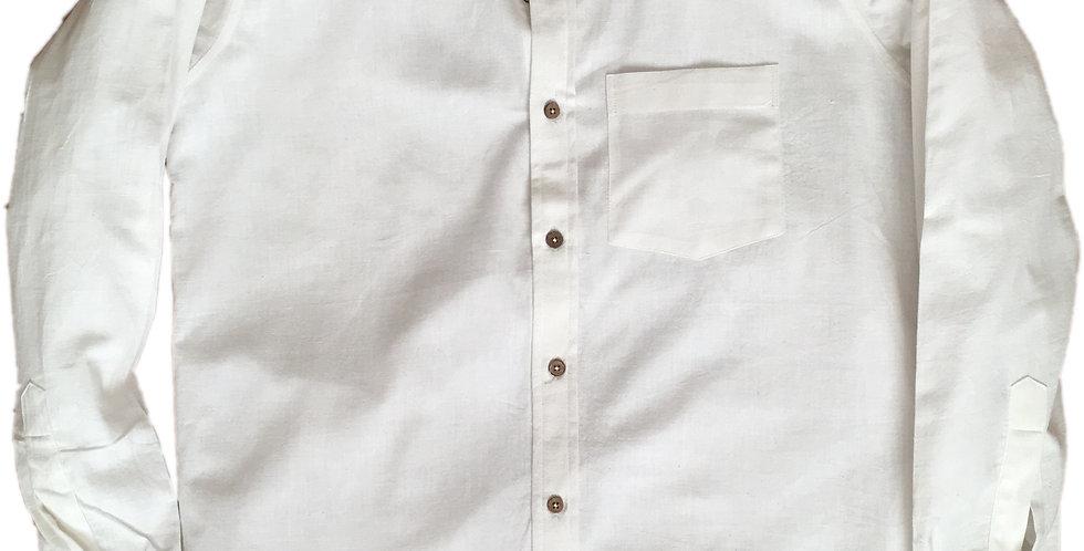 Organic Long-Sleeved White Shirt