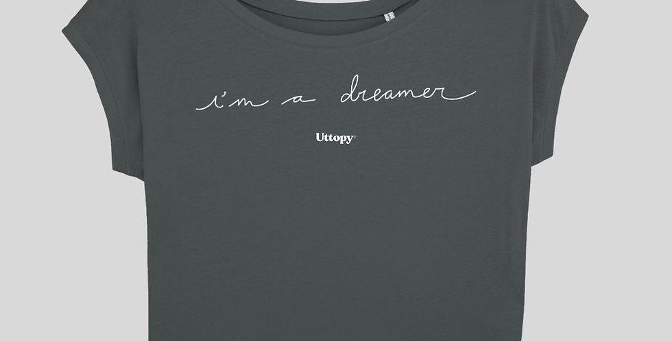 """Women Grey Oversize """"I'm A Dreamer"""" T-Shirt"""