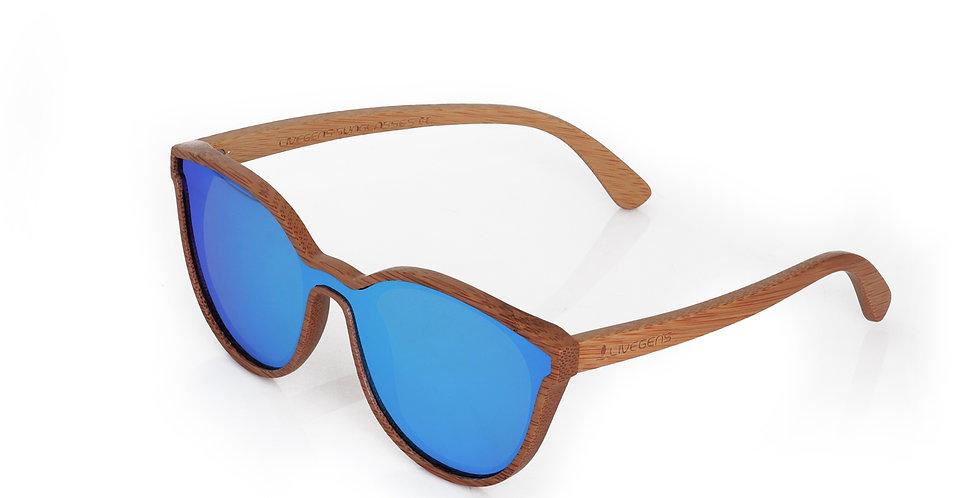 Livegens Caribbean Gafas de Sol de Bambu