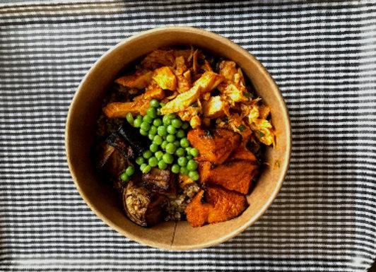 Poulet tandoori, quinoa & légumes