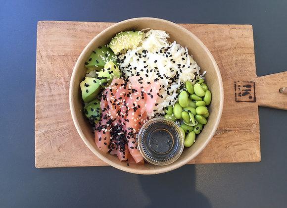 Grande salade bowl sushi saumon