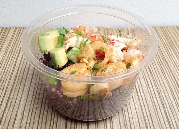 Salade riz noir & écrevisses
