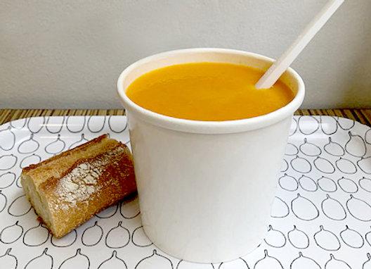 Soupe de poireaux, pomme de terre, carottes & estragon