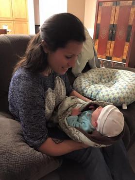 Home visit for Skyler's first adjustment