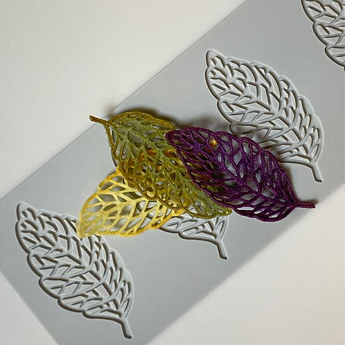 Molde Silicone 3D - Folha