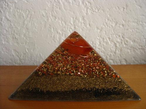 Small Carnelian Orgonite Pyramid