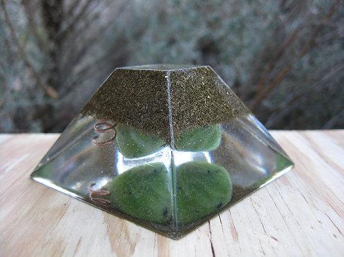 Jade Orgonite Ziggurat Pyramid