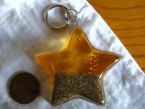 Pet Orgonite Pendant - Small Yellow Star