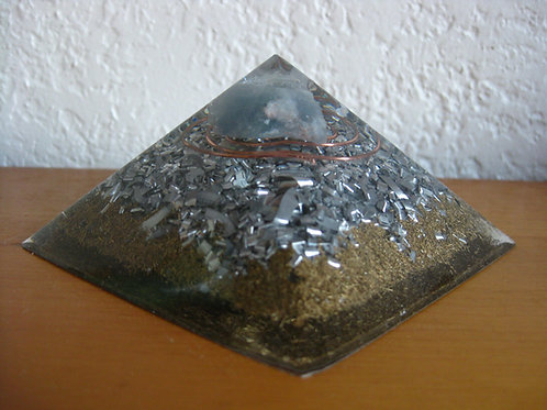 Small Blue Calcite Orgonite Pyramid