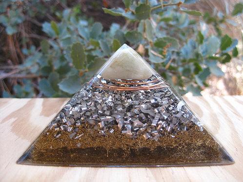 Small Aquamarine Orgonite Pyramid