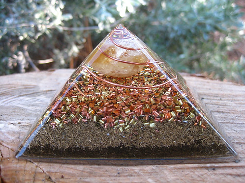 Small Citrine Orgonite Pyramid