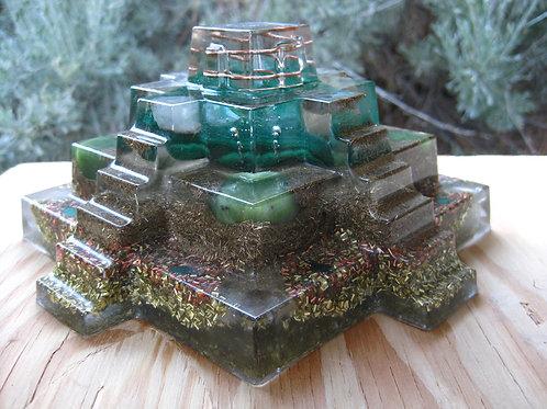 Malachite Mayan Orgonite Pyramid