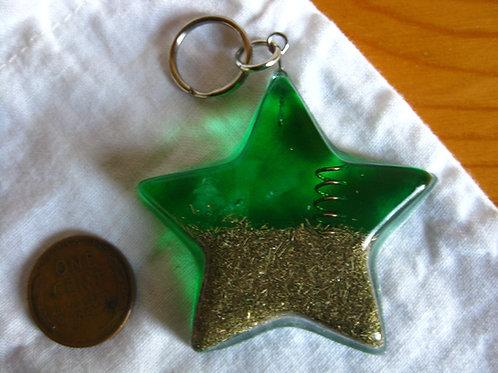 Pet Orgonite Pendant - Large Green Star