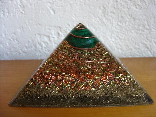 Small Malachite Orgonite Pyramid