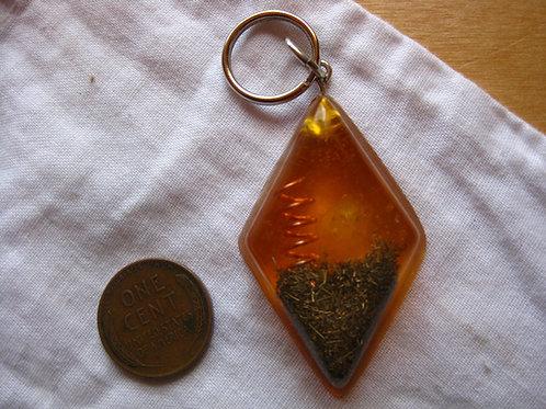 Pet Orgonite Pendant - Yellow Diamond