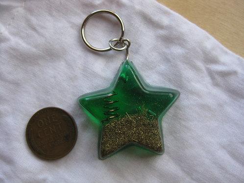 Pet Orgonite Pendant - Small Green Star