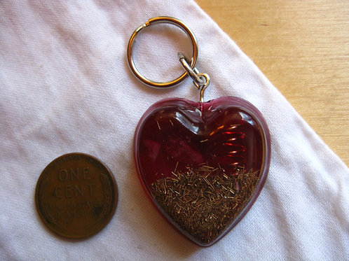 Pet Orgonite Pendant - Red Heart