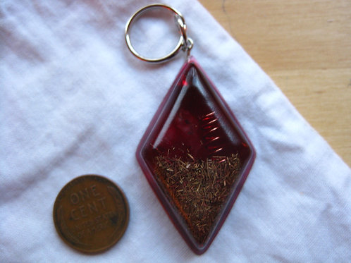 Pet Orgonite Pendant - Red Diamond