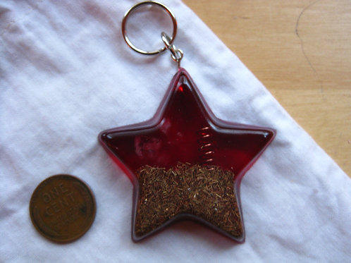 Pet Orgonite Pendant - Large Red Star