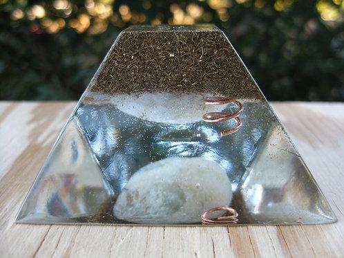 Aquamarine Orgonite Ziggurat Pyramid