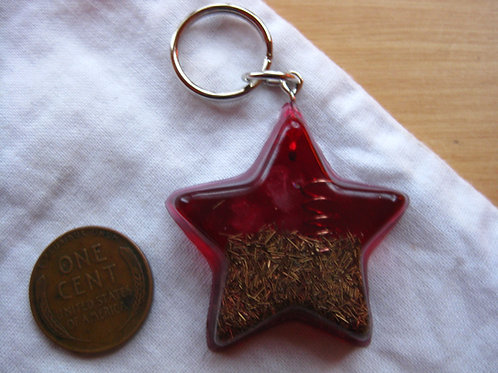 Pet Orgonite Pendant - Small Red Star
