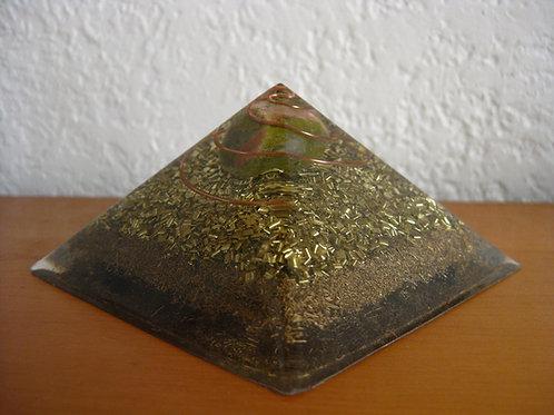 Small Unakite Orgonite Pyramid
