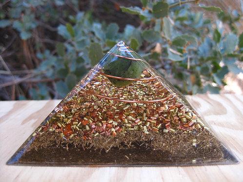 Small Jade Orgonite Pyramid