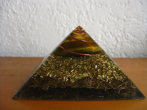 Small Tiger Eye Orgonite Pyramid