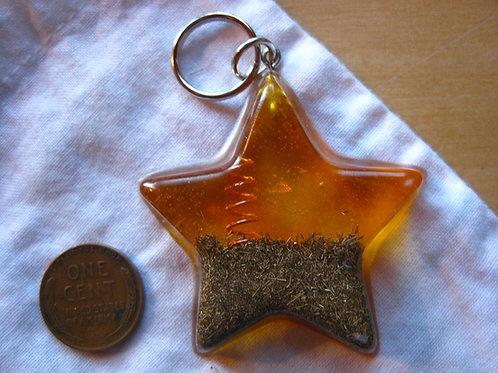 Pet Orgonite Pendant - Large Yellow Star