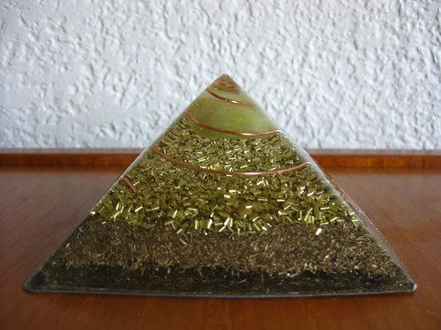 Small Serpentine Orgonite Pyramid
