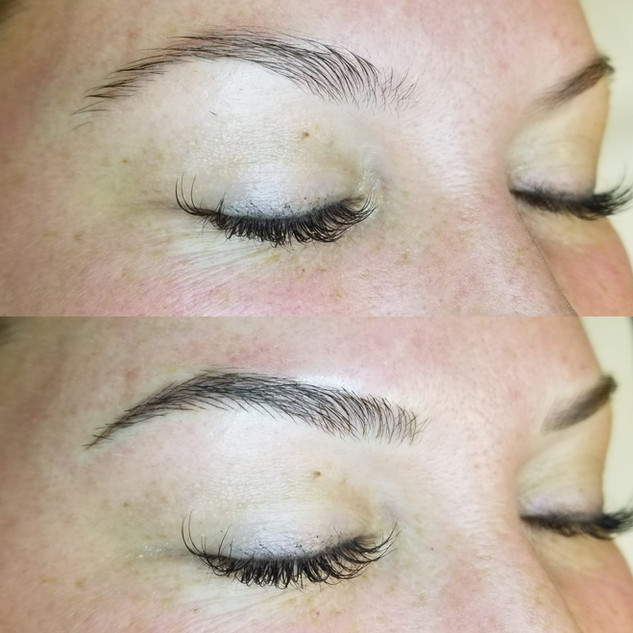 090318 Jennifer Simich Microblading Befo