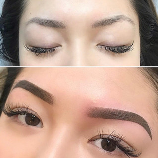 Ombre Eyebrow before and after