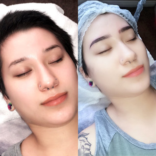 ombre brows before and after