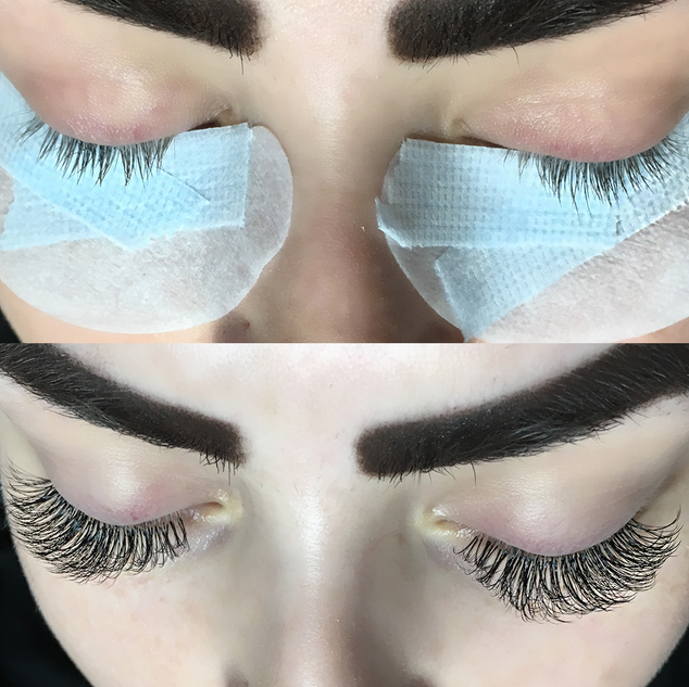Volume Eyelash Extensions Before & After