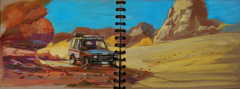 toyota dans le desert du Tadrart