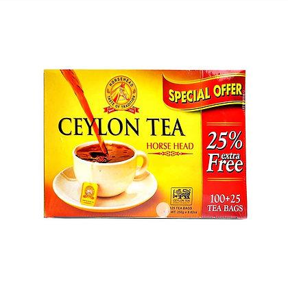شاي رأس الحصان شاي سيلاني فاخر - 100 ظرف